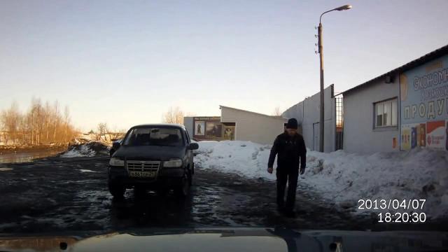 Пьяный водитель. Северодвинск.