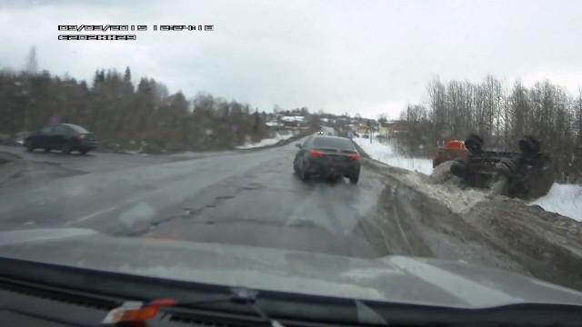 ДТП Авария бензовоз Малые Карелы Архангельск
