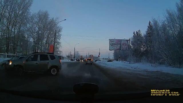 ДТП Авария Архангельск Теснанова развернулся