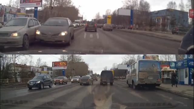 ДТП, Авария, Архангельск, Обводный канал, Урицкого, полосы
