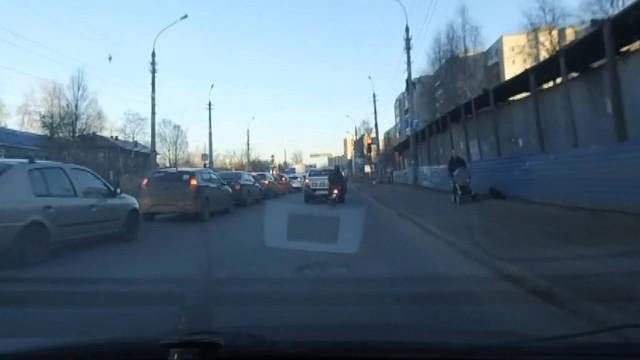 ДТП Авария Архангельск мопед мотоцикл