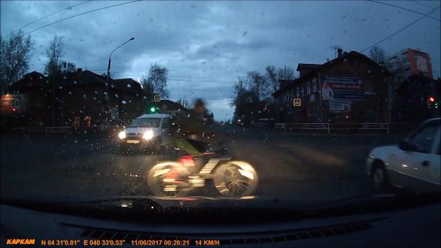 ДТП, Авария, Архангельск, Урицкого, Ломоноосва, велосипедист