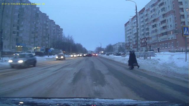 БезДТП Северодвинск Морской гололёд повезло