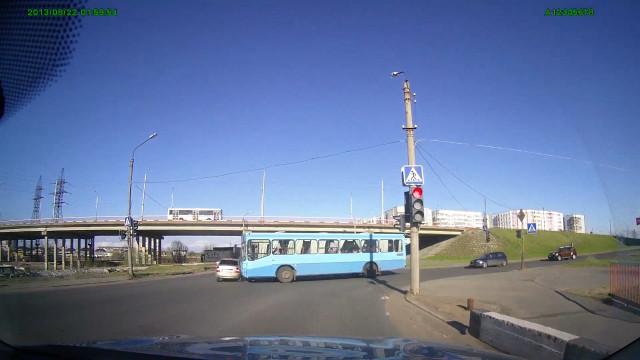 ДТП, Авария, Северодвинск, Юбилейная, автобус