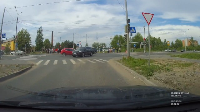 ДТП, Авария, Северодвинск, Архангельское шоссе, не пропустил