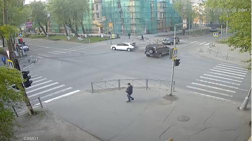 ДТП, Авария, Северодвинск, Ленина, Лесная, на красный