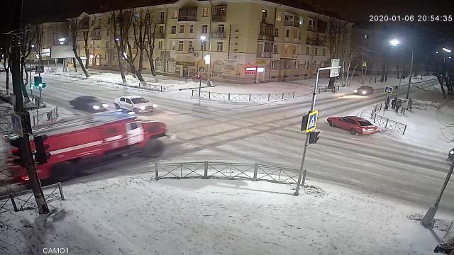 ДТП, Авария, Северодвинск, Пожарная машина, ленина, лесная
