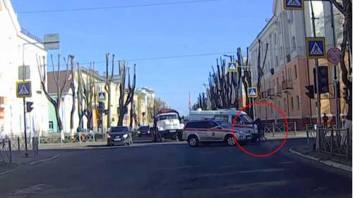 ДТП, Авария, Северодвинск, Ленина, Лесная, велосипедист