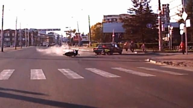 ДТП Авария Архангельск Набережная Выучейского мотоциклист